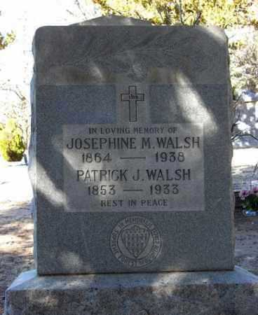 WALSH, PATRICK JOSEPH - Yavapai County, Arizona | PATRICK JOSEPH WALSH - Arizona Gravestone Photos
