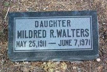WALTERS, MILDRED - Yavapai County, Arizona | MILDRED WALTERS - Arizona Gravestone Photos