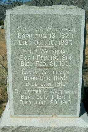 WATERMAN, AMANDA MELVINA - Yavapai County, Arizona | AMANDA MELVINA WATERMAN - Arizona Gravestone Photos