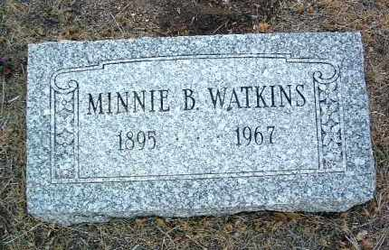 WATKINS, MINNIE B. - Yavapai County, Arizona | MINNIE B. WATKINS - Arizona Gravestone Photos