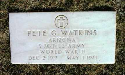 WATKINS, PETE G. - Yavapai County, Arizona | PETE G. WATKINS - Arizona Gravestone Photos