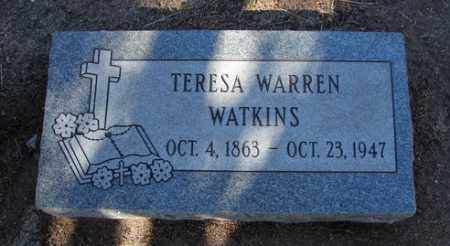 WARREN WATKINS, TERESA F. - Yavapai County, Arizona | TERESA F. WARREN WATKINS - Arizona Gravestone Photos