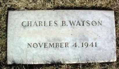 WATSON, CHARLES B. - Yavapai County, Arizona | CHARLES B. WATSON - Arizona Gravestone Photos
