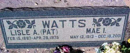 RUSSELL WATTS, MAE I. - Yavapai County, Arizona | MAE I. RUSSELL WATTS - Arizona Gravestone Photos