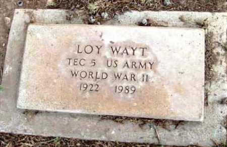 WAYT, LOY - Yavapai County, Arizona | LOY WAYT - Arizona Gravestone Photos