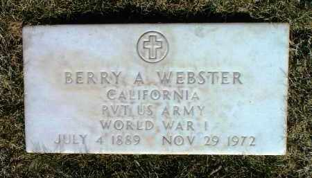 WEBSTER, BERRY A. - Yavapai County, Arizona | BERRY A. WEBSTER - Arizona Gravestone Photos