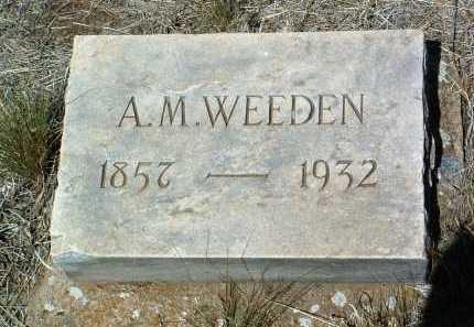 WEEDEN, ALFRED MURRAY - Yavapai County, Arizona | ALFRED MURRAY WEEDEN - Arizona Gravestone Photos