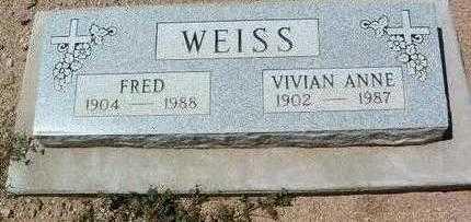 JOHNSON WEISS, VIVIAN A. - Yavapai County, Arizona | VIVIAN A. JOHNSON WEISS - Arizona Gravestone Photos