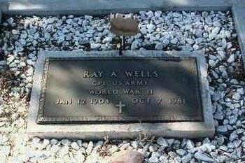 WELLS, RAY ALEXANDER - Yavapai County, Arizona   RAY ALEXANDER WELLS - Arizona Gravestone Photos