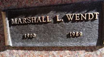 WENDT, MARSHALL LYMAN - Yavapai County, Arizona | MARSHALL LYMAN WENDT - Arizona Gravestone Photos