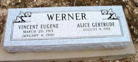 WERNER, VINCENT EUGENE - Yavapai County, Arizona   VINCENT EUGENE WERNER - Arizona Gravestone Photos