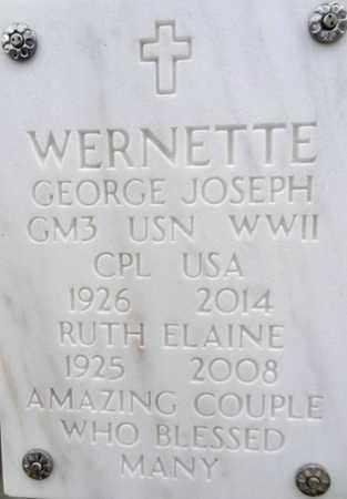 WERNETTE, GEORGE J. - Yavapai County, Arizona | GEORGE J. WERNETTE - Arizona Gravestone Photos