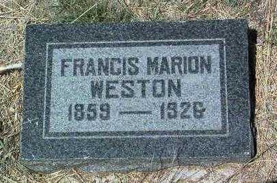 WESTON, FRANCIS MARION - Yavapai County, Arizona | FRANCIS MARION WESTON - Arizona Gravestone Photos