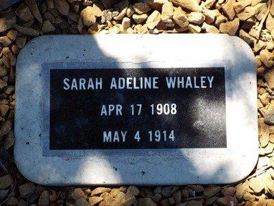 WHALEY, SARAH ADELINE - Yavapai County, Arizona   SARAH ADELINE WHALEY - Arizona Gravestone Photos
