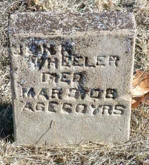 WHEELER, JOHN - Yavapai County, Arizona | JOHN WHEELER - Arizona Gravestone Photos