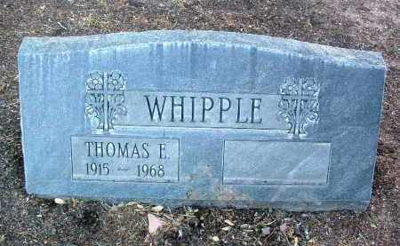 WHIPPLE, THOMAS E. - Yavapai County, Arizona   THOMAS E. WHIPPLE - Arizona Gravestone Photos