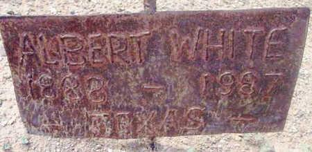 WHITE, ALBERT - Yavapai County, Arizona   ALBERT WHITE - Arizona Gravestone Photos