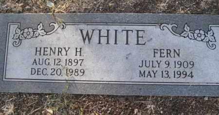 WHITE, HENRY H. - Yavapai County, Arizona   HENRY H. WHITE - Arizona Gravestone Photos