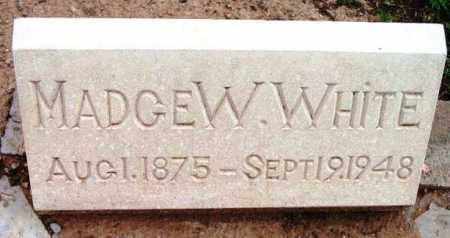 WHITE, MADGE W. - Yavapai County, Arizona | MADGE W. WHITE - Arizona Gravestone Photos