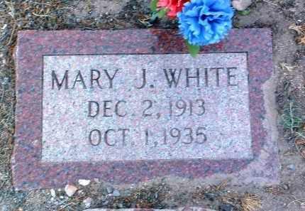 WHITE, MARY J. - Yavapai County, Arizona   MARY J. WHITE - Arizona Gravestone Photos