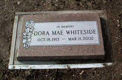 WHITESIDE, DORA MAE - Yavapai County, Arizona   DORA MAE WHITESIDE - Arizona Gravestone Photos