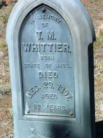 WHITTIER, T. M. - Yavapai County, Arizona | T. M. WHITTIER - Arizona Gravestone Photos