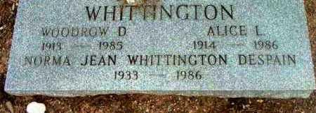 WHITTINGTON, ALICE L. - Yavapai County, Arizona   ALICE L. WHITTINGTON - Arizona Gravestone Photos