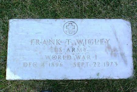 WIGLEY, FRANK T. - Yavapai County, Arizona | FRANK T. WIGLEY - Arizona Gravestone Photos