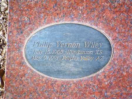 WILEY, PHILIP VERNON - Yavapai County, Arizona | PHILIP VERNON WILEY - Arizona Gravestone Photos