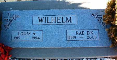 WILHELM, RAE DEANE K. - Yavapai County, Arizona | RAE DEANE K. WILHELM - Arizona Gravestone Photos