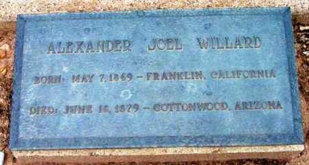 WILLARD, ALEXANDER JOEL - Yavapai County, Arizona | ALEXANDER JOEL WILLARD - Arizona Gravestone Photos