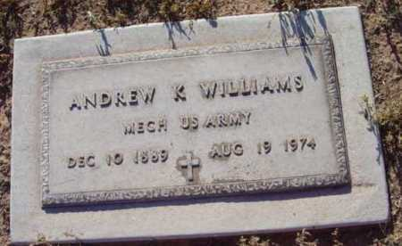 WILLIAMS, ANDREW K. - Yavapai County, Arizona   ANDREW K. WILLIAMS - Arizona Gravestone Photos