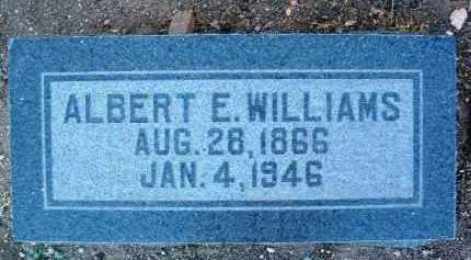 WILLIAMS, ALBERT E. - Yavapai County, Arizona   ALBERT E. WILLIAMS - Arizona Gravestone Photos