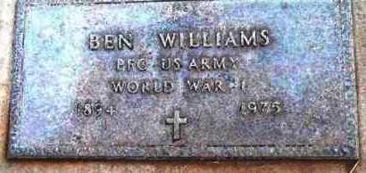 WILLIAMS, BEN - Yavapai County, Arizona   BEN WILLIAMS - Arizona Gravestone Photos