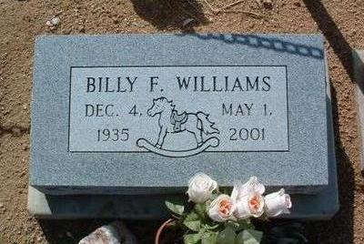 WILLIAMS, BILLY FRANKLIN - Yavapai County, Arizona | BILLY FRANKLIN WILLIAMS - Arizona Gravestone Photos