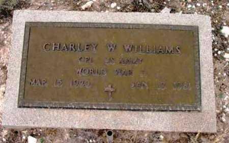 WILLIAMS, CHARLEY WILLARD - Yavapai County, Arizona   CHARLEY WILLARD WILLIAMS - Arizona Gravestone Photos