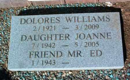 WILLIAMS, DELORES JANE - Yavapai County, Arizona | DELORES JANE WILLIAMS - Arizona Gravestone Photos