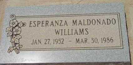 WILLIAMS, ESPERANZA - Yavapai County, Arizona   ESPERANZA WILLIAMS - Arizona Gravestone Photos