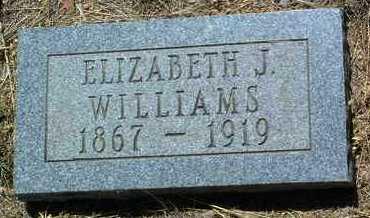 WILLIAMS, ELIZABETH JANE - Yavapai County, Arizona   ELIZABETH JANE WILLIAMS - Arizona Gravestone Photos