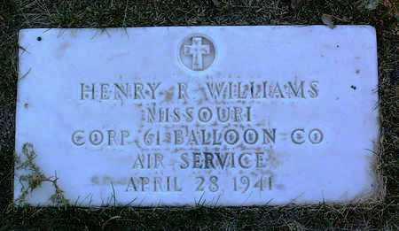 WILLIAMS, HENRY  ROBERT - Yavapai County, Arizona | HENRY  ROBERT WILLIAMS - Arizona Gravestone Photos