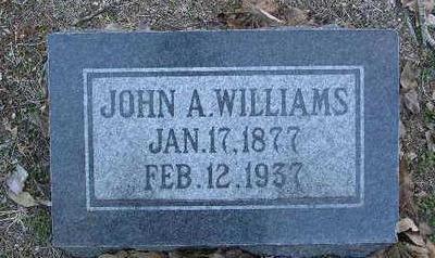 WILLIAMS, JOHN A. - Yavapai County, Arizona   JOHN A. WILLIAMS - Arizona Gravestone Photos