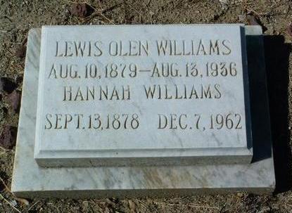 WILLIAMS, HANNAH - Yavapai County, Arizona | HANNAH WILLIAMS - Arizona Gravestone Photos