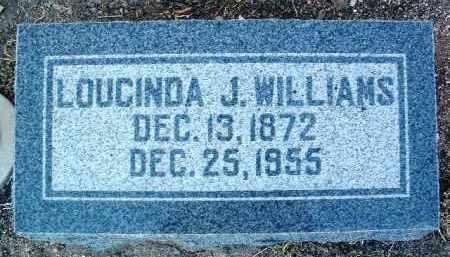 WILLIAMS, LOUCINDA JANE - Yavapai County, Arizona | LOUCINDA JANE WILLIAMS - Arizona Gravestone Photos