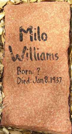 WILLIAMS, MILO - Yavapai County, Arizona   MILO WILLIAMS - Arizona Gravestone Photos