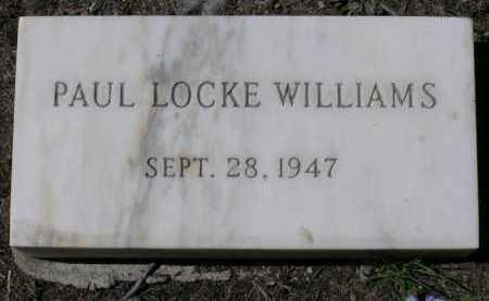 WILLIAMS, PAUL LOCKE - Yavapai County, Arizona   PAUL LOCKE WILLIAMS - Arizona Gravestone Photos