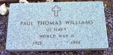 WILLIAMS, PAUL THOMAS - Yavapai County, Arizona   PAUL THOMAS WILLIAMS - Arizona Gravestone Photos