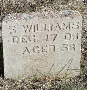 WILLIAMS, S. - Yavapai County, Arizona | S. WILLIAMS - Arizona Gravestone Photos