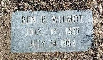 WILMOT, BENJAMIN ROBINSON - Yavapai County, Arizona   BENJAMIN ROBINSON WILMOT - Arizona Gravestone Photos