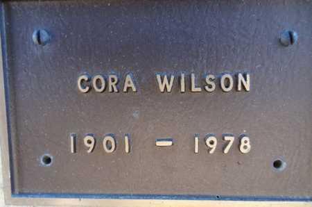 WILSON, CORA - Yavapai County, Arizona   CORA WILSON - Arizona Gravestone Photos