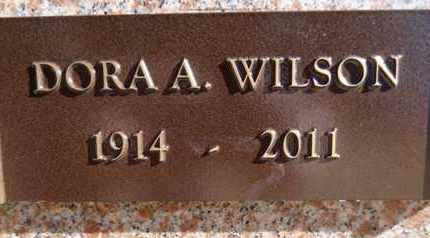 WILSON, DORA A. - Yavapai County, Arizona | DORA A. WILSON - Arizona Gravestone Photos